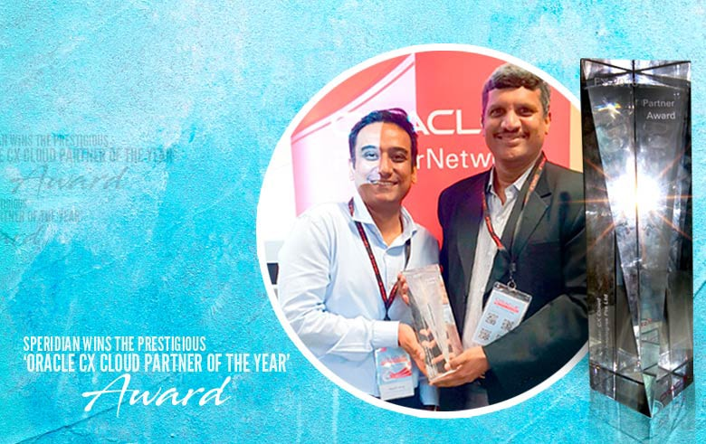 Speridian wins the prestigious 'Oracle CX cloud partner of the year' award