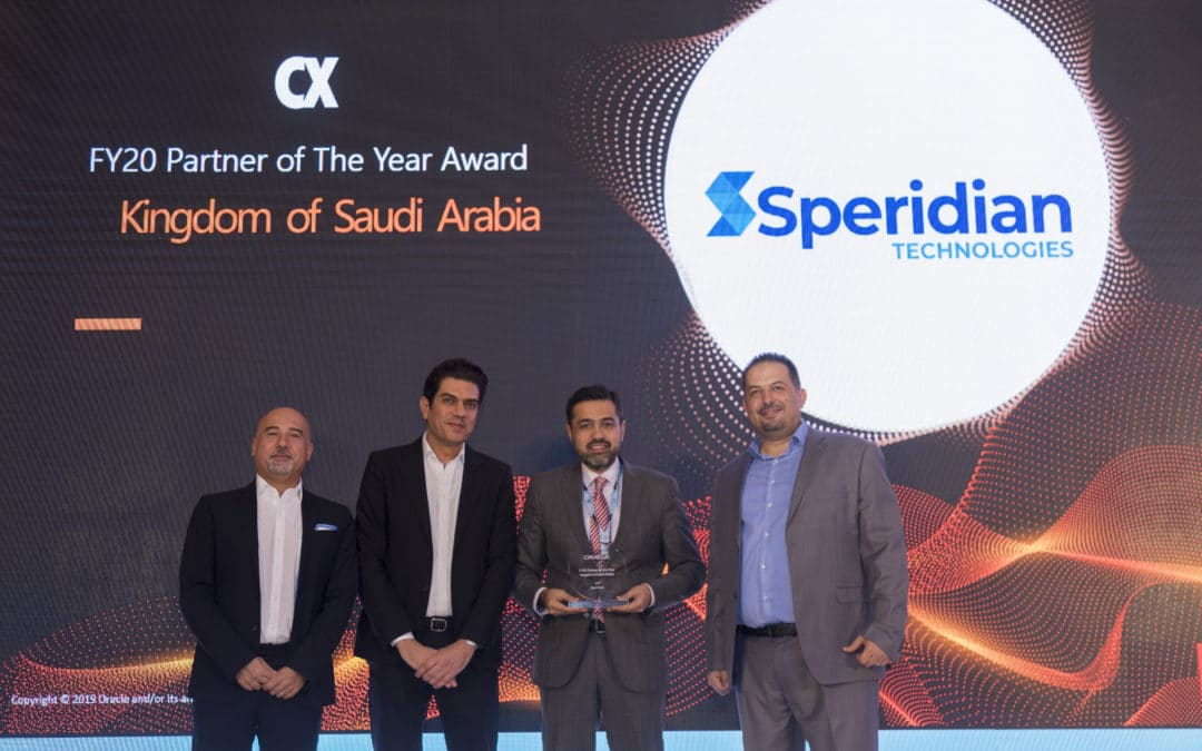 Speridian MEA wins Oracle CX Partner of the year award for Kingdom of Saudi Arabia