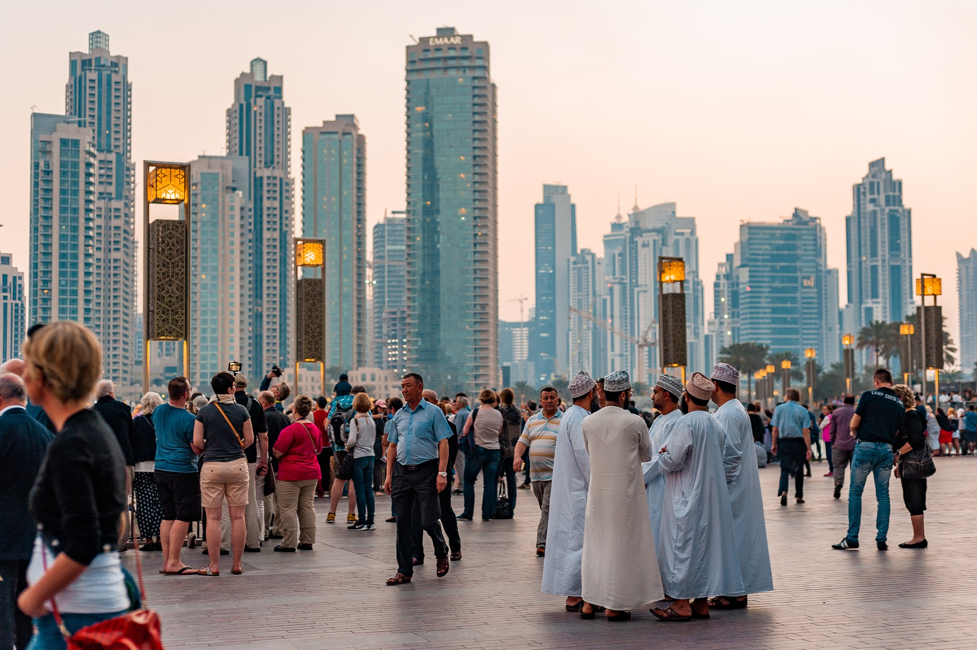 Photograph of people in Dubai
