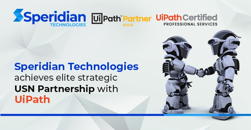 Speridian Technologies achieves elite strategic USN Partnership with UiPath