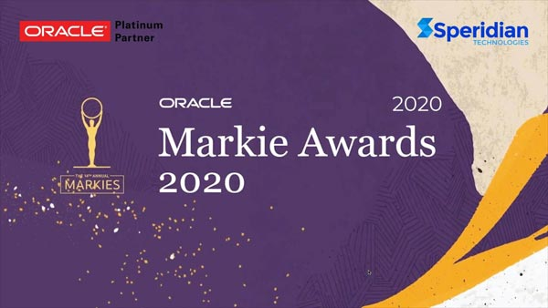 Speridian's solution for Ameriprise wins the best Innovation in Service and Field Service project at the 2020 Oracle Markie Awards